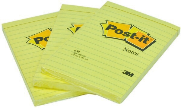 POS000090NO - Post-it 3M Note 660 15.2X10.2 Giallo Canary -